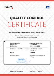 Kvant Laser Zertifikat