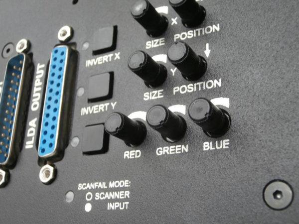 Kvant Laser Backpanel Einstellungen