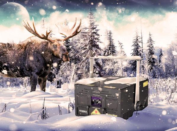 Kvant Laser im Schnee